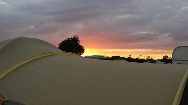 Sunset over the tent #wadd14 http://t.co/xdeEccjYDL