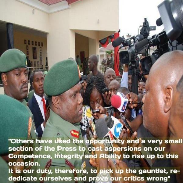 Gen. Minimah's Charge to Officers and Men of the Nigerian Army at the COAS 3rd Quarter Conference #dedication