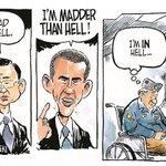 Obama: Im madder than hell. VET: Im IN hell! #PJNET #TCOT #UniteRight #CCOT #RedNationRising #LNYHBT http://t.co/33JQOAHY3N