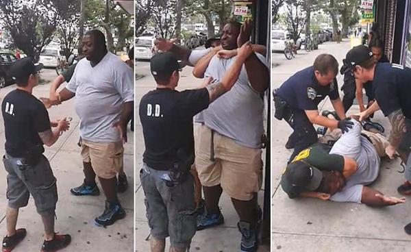 Staten Island dad dies after @NYPDnews cop puts him in chokehold. http://t.co/1sQzJem1TQ WARNING GRAPHIC VIDEO http://t.co/wot81xs05n