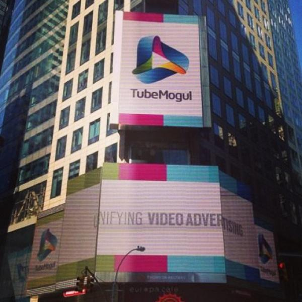 Proud to see TubeMogul in Times Square! #TubeIPO http://t.co/GuvF7Z1awV