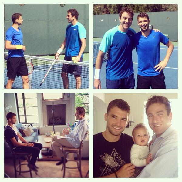 Had a blast hitting, hanging, and interviewing @GrigorDimitrov yesterday. Incredible talent and such a kind young man http://t.co/gXFRffrszq