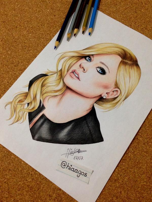 """""""@MyFlawlessAvril: HOLY SHIT @AvrilLavigne, check out this amazing drawing by @hiaagos! http://t.co/1FgzPSpbJK"""" talented artist"""