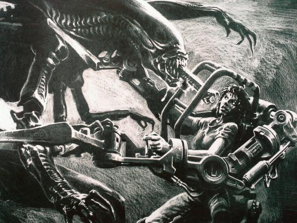 Nice! RT @mccrabb_will: JAMES CAMERON'S pre-production 'sketch' for ALIENS which was released on this day in 1986. http://t.co/MzApiA5t49