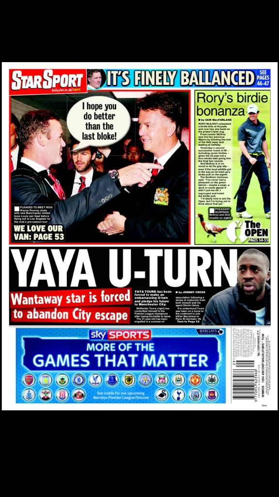 Yaya Toure forced to ditch plans for a Manchester City exit [Star]