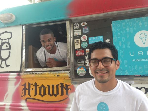 We're cruising the streets w/ @HoustonRockets @TroyDaniels30 and @Uber_Houston dishin out our #FrozenAwesome http://t.co/IB48aYIp87