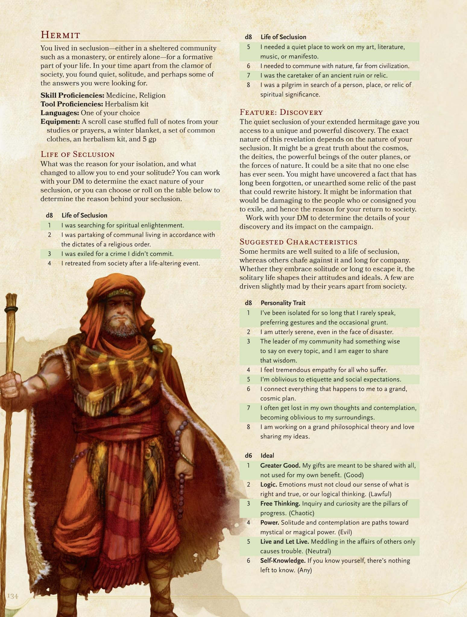 The hermit makes a rare appearance as we wrap up this week's #DnD PHB preview on backgrounds! http://t.co/KESA9zp70z