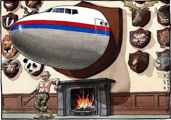 Yusuf Özhan (@Yusuf_Ozhan): Düşürülen #MH17 için @brookestimes'ta çıkan bir karikatür http://t.co/WQ3MM3qZOk