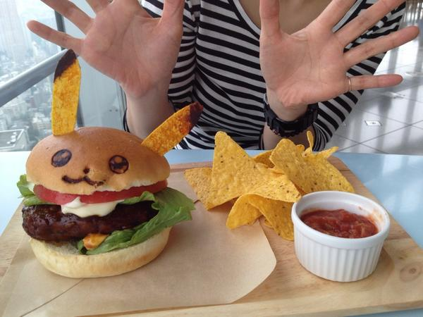 Burger's up. #Pikachucafe http://t.co/5Q6qzqpGeN
