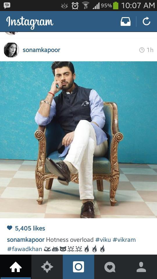 Sonam kapoor drooling over humara Fawad Afzal Khan! I like! #Khoobsurat #FawadAfzalKhan #instaRepost http://t.co/UWKY04tKxw