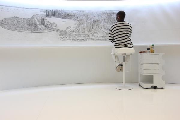 My drawing of Singapore Panorama is going very well and will finish it tomorrow. #art #singapore #seethebigpicturesg http://t.co/9BWS1BYG5i