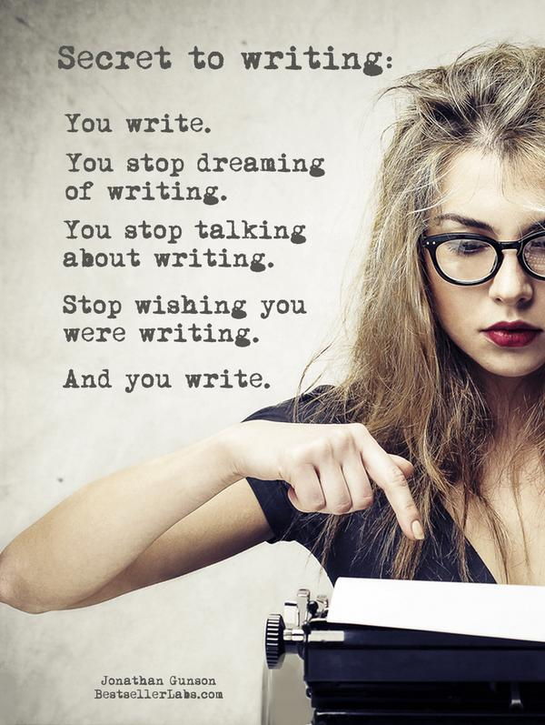 The secret to writing...  #amwriting http://t.co/M4hKbxYUkb