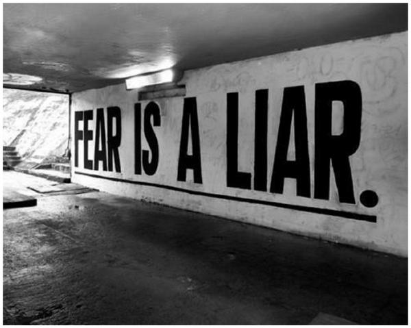 """""""Of all the liars in the world, sometimes the worst are our own fears.""""  ~Rudyard Kipling http://t.co/PrGN1FV920"""