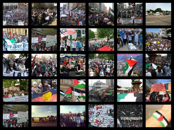 I want to show you something beautiful #GlobalSolidarityWithGaza here all of you are from NY to Bosnia, keep sharing! http://t.co/n5n0tmul3t