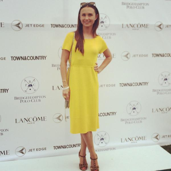 The lovely Georgina Bloomberg looking absolutely stunning in ESCADA #ESCADAgetaway @TandCmag @BHPolo http://t.co/pjdy7fIAta