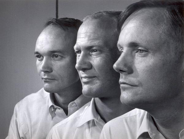 45 years ago today these 3 men inspired the world with their bravery, skill & example; Thanks Mike, Buzz & Neil. http://t.co/SXABMSAL7w