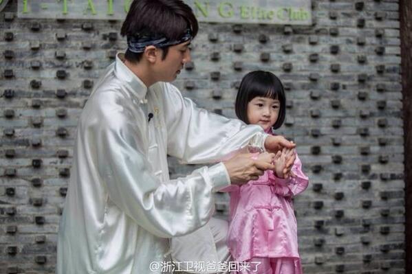 Daddy #WuChun & his princess. http://t.co/tNH0rwB84T