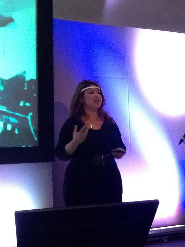 Tracy Chong @MusewithTracy wearing the Muse product - thought-controlled computing! @IMUKsocial #inbounduk14 http://t.co/XPPMJ3bP0G