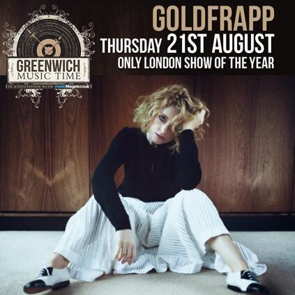.@goldfrapp play  @GreenwichMusicT in London on 21Aug - retweet to win a pair of tix! Winners announced Monday14July. http://t.co/iwgurCnZth