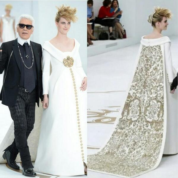 Gorgeous wedding dress from the chanel haute couture fall 2014 ...