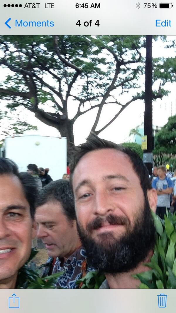 First day selfie!! Hawaii Five-0 #H50 Season 5 starts shooting today! http://t.co/Roh8N5t38a