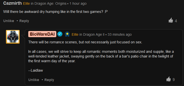"""""""We will strive to keep all romantic moments both moisturized and supple""""  @Mike_Laidlaw #DAI http://t.co/r1NqHEmQLz http://t.co/kOPggGmQZ4"""