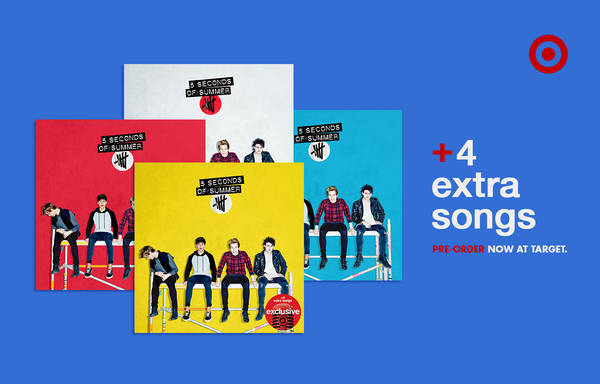 .@5SOS debut album hits 7/22. Plus, get 4 extra songs #OnlyatTarget Pre-order now: http://t.co/hLImUchJWc #More5SOS http://t.co/XR66lwgmzH