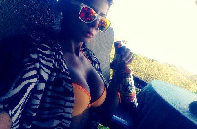 #Beer & #Boobs #Selfie :P #IWishUWereHere http://t.co/vfJrGCRdj0