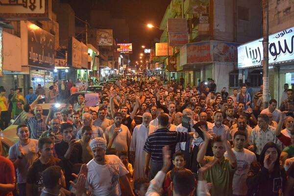 مسيرة في #اربد الأردنية دعماً ل #غزة الليلة #GazaUnderAttack #PalestineUnderAttack http://t.co/W9KLWbY8T1
