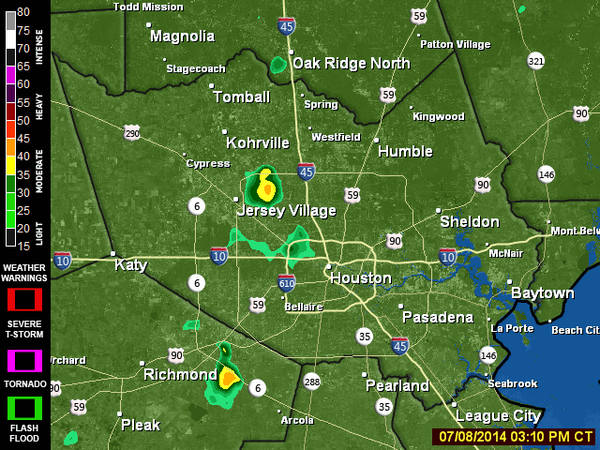 Check out the live doppler #weather radar for the #houston area