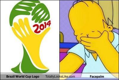 Brazil #WorldCup logo a face palm indeed http://t.co/em0AiwpIIl