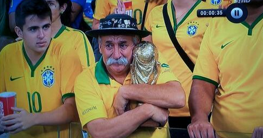 Kok aku sedih juga? :((( RT @SpencerAlthouse: Possibly the saddest Brazilian fan at this world cup game: #BRA #GER http://t.co/z9wzamxtAD