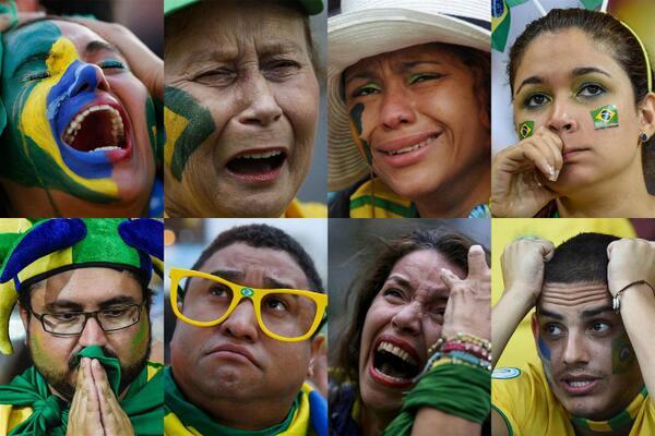 Internasional Piala Dunia  - Reaksi Fans Brasil Usai Dibantai Jerman Dengan Skor Akhir 1-7