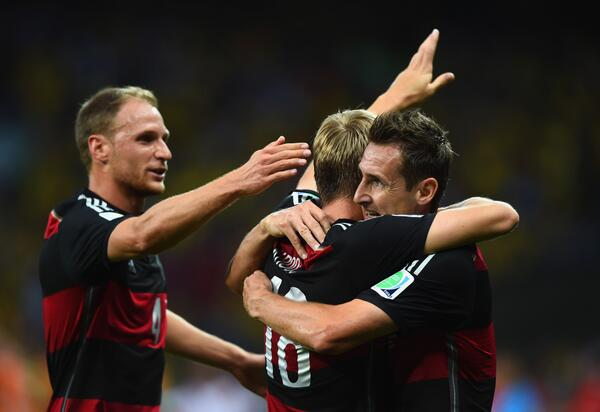 FT: #BRA 1-7 #GER. Germany book their place in the #WorldCup final with record-breaking win. http://t.co/hWnKqoTmzO http://t.co/Lexg8fwImC