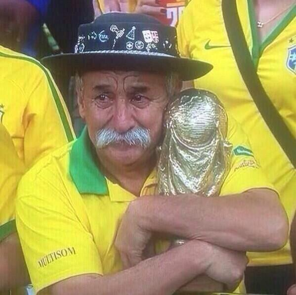 Possibly the saddest Brazilian fan at today's game: #BRAvsGER - http://t.co/3Jo2EuctPH