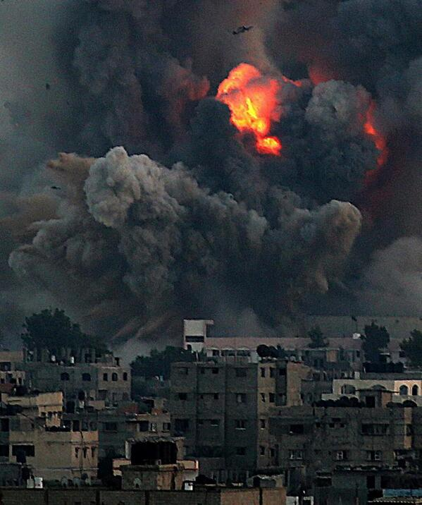 While futbol is being played and enjoyed  Gaza is going through this http://t.co/YndiUb27ln