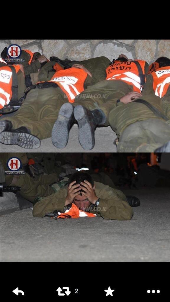 جنود صهاينة يختبئون في الملاجيء خوفا من صواريخ المقاومة الفلسطينية #تحية لرجال المقاومة ✌️ http://t.co/NKNi1Ta7nJ