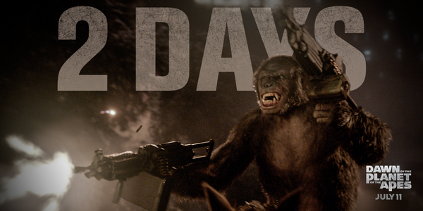 Be there opening night! See #DawnofApes in 2 days: http://t.co/XBO3aajwM2 http://t.co/ApgkxQ1p0O