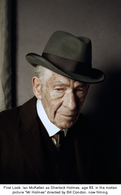 Over 70 actors have previously played Sherlock Holmes. Now he's 93 years old and it's my turn. #MrHolmes http://t.co/B9HkUgfkCv