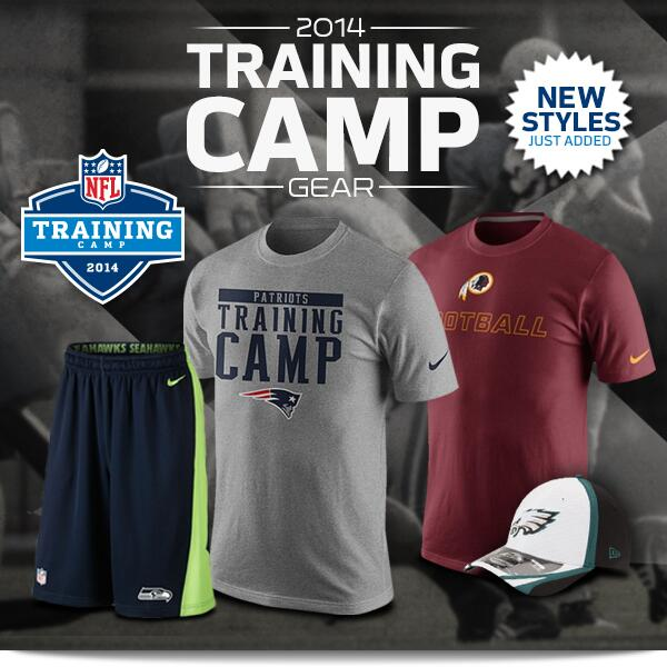 Are you field-ready? 2014 NFL Training Camp gear is now available at http://t.co/7foEE6Ng4h - http://t.co/SGwzkp4xd5 http://t.co/ficIAKgs7Q