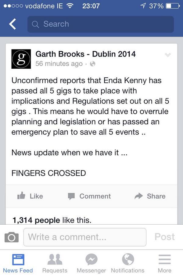 Breaking #GarthBrooks http://t.co/RKhJLp5shk