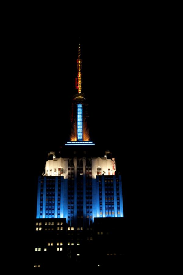 Tonight, we will glow light blue, white and yellow for #ARG and their advancement to the #WorldCup final! #NEDvsARG http://t.co/UvWFqPT56W