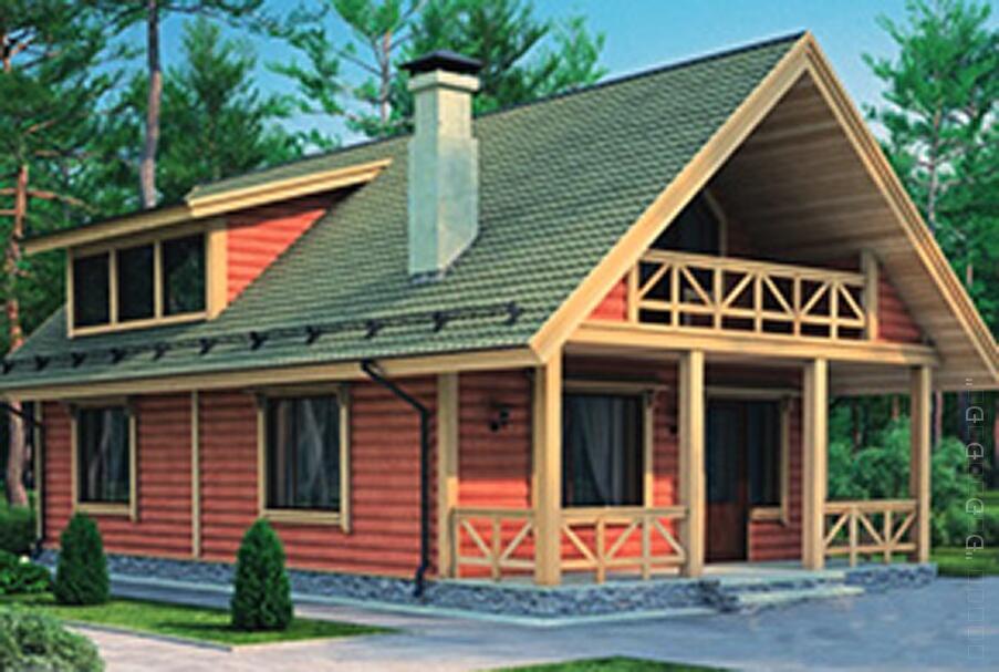 Каркасный дом охотник площадью 158.9 кв. м. - леспром-строй..