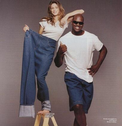 Cindy Crawford @cindycrawford: #TBT with @Shaq, this picture is too funny! Any ideas for a fun caption? http://t.co/sdcmKWup40