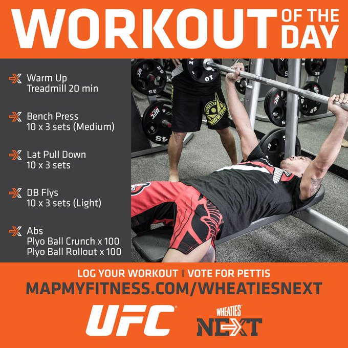 RT @ufc: Your logged workout could land the first UFC athlete on the cover of the @Wheaties box! Vote: http://t.co/C91IPUhL2y http://t.co/i…