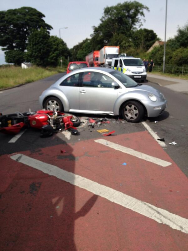 Road Closed Near Leeds Bradford Airport After Accident