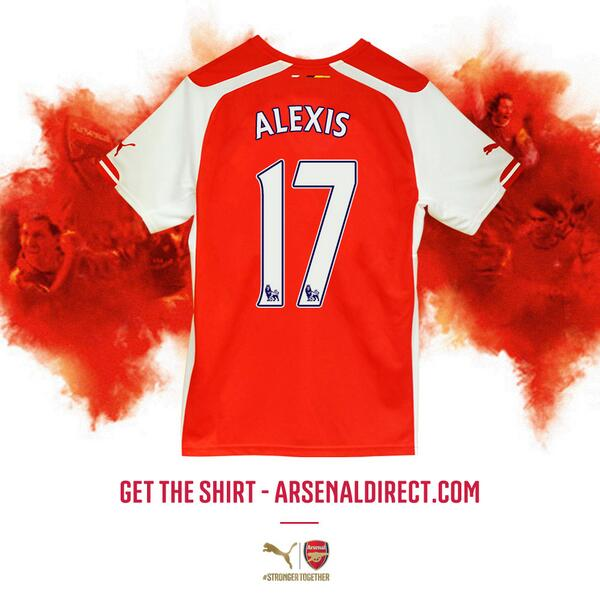 Alexis sanchez's #arsenal shirt number has been announced. get his new puma shirt here ...