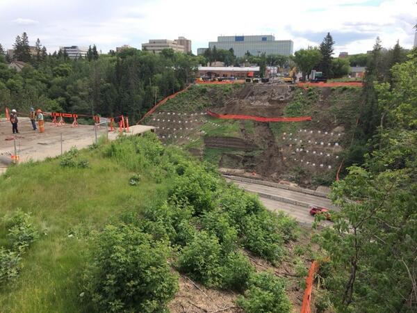 Side aerial view of what used to be the 102 Avenue Over Groat/Athabasca/The Iron/The Singing Bridge. #yeg http://t.co/Kwtbd1027g