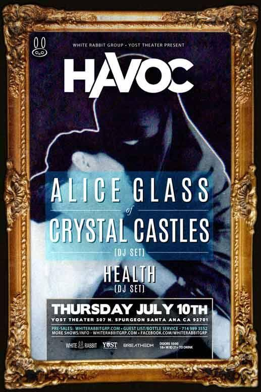 TONIGHT The YOST THEATER Presents ALICE GLASS of CRYSTAL CASTLES! DOORS OPEN AT 9:30pm #CrystalCastles  #YostTheater http://t.co/cCI5mlwrs9