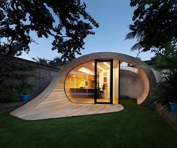 Is It a Shed? An Office? Neither — It's a 'Shoffice'! Check out more photos here: http://t.co/bRSOvr8wJw http://t.co/6FuwBQCGml